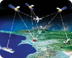 Satellites connecting with vehicles